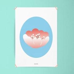 봄 벚꽃 M 유니크 인테리어 디자인 포스터 식물