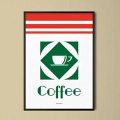 레트로 커피 M 유니크 인테리어 디자인 포스터 카페