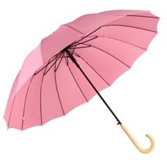 까르벵 16살대 파스텔 우드그립 자동 장우산