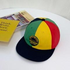 컬러 배색 캠프캡 양준일 스타일 스냅백 모자