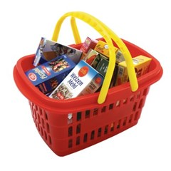 클라인 마트 바구니와 식료품 박스_(301789434)