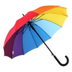 까르벵 12살대 무지개 곡자 자동 장우산