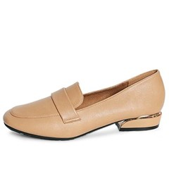 kami et muse Gold line point low heel loafers_KM19w387