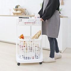 일본생산 욕실 주방 세탁물수납 이동식 트롤리 BELFI_(1163540)