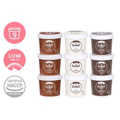 칼로리 걱정없는 달콤아이스크림 스윗랜드 9개 (초코+밀크+흑임자)