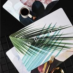 인스스타일 리프 테이블매트 방수식탁매트 3colors