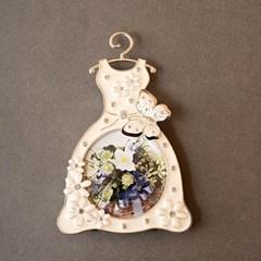 플라워 나비 탁상액자-드레스