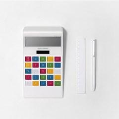 학교 사무실 은행 태양열 배터리 LCD 계산기 Rainbow_(1163589)