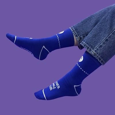 Smile club socks-blue_(1502427)