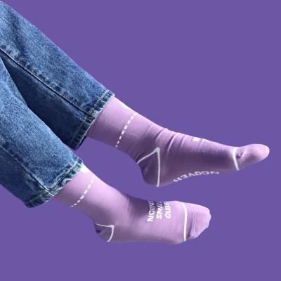 Smile club socks-light purple_(1502426)