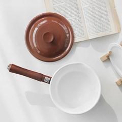 에지리 인덕션 법랑 편수냄비 16cm / 초콜렛(ECC-16S)