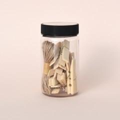 대나무집게 마끈 원통세트