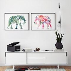 코끼리 액자 풍수지리 인테리어 그림
