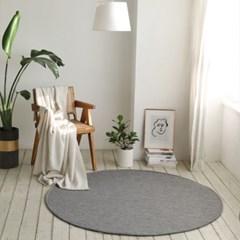원형 헤링본 사계절 거실 침실 러그 물세탁 170x170cm_(1757922)