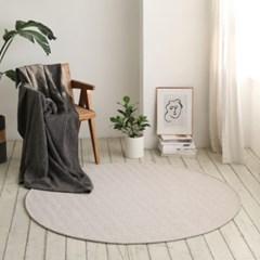 원형 헤링본 사계절 거실 침실 러그 물세탁 130x130cm_(1757920)