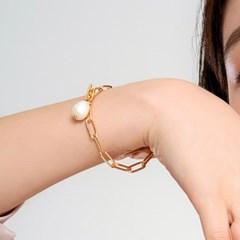 [아르띠] pearl chain bracelet