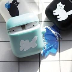 [에어팟 케이스] 민트 뭉개 / 밤고양이 / 털실고양이 / 사과고양이