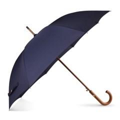 까르벵 스모크 네이비 나무봉 자동 장우산