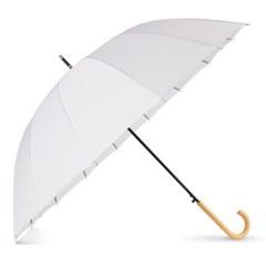 까르벵 16살대 퓨어 화이트 자동 장우산