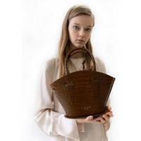 hestia bag crocbrown