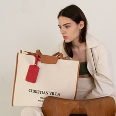 [텐바이텐 단독] Christian villa  hope canvas bag brown