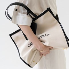[텐바이텐 단독] Christian villa  hope canvas bag black