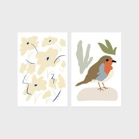 Flower & Bird Postcard