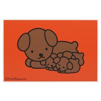 실크스크린 포스트카드 - 스너피와 아기들
