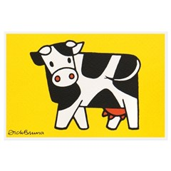 실크스크린 포스트카드 - 젖소
