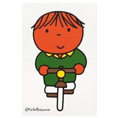 실크스크린 포스트카드 - 자전거 소년