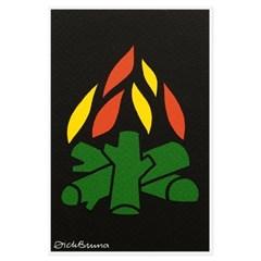 실크스크린 포스트카드 - 불꽃
