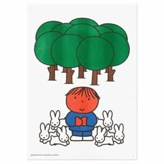 미피와 친구들 리소 A3 포스터 - 미피 숲