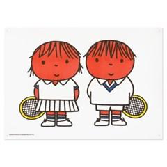 미피와 친구들 리소 A3 포스터 - 미피 테니스