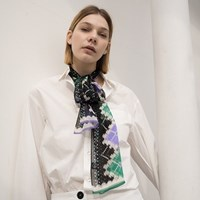 claire silk tie scarf (3color)