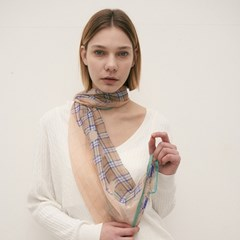 dahila silk scarf (2color)