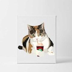 팝아트 강아지초상화 고양이 반려동물 캔버스액자