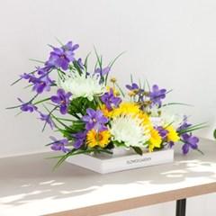 설국화성묘꽃수반 set 70cmP 조화 화분 성묘 꽃 수반 FM_(1758673)