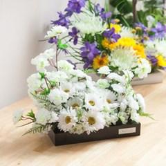 봄향기화이트수반 set 50cmP 조화 화분 성묘 꽃 수반 FM_(1758672)