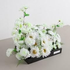 봄향기화이트 성묘꽃 수반 set 50cmP 조화  화분 산소꽃 납골당 성묘