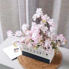 싱그런 벚꽃 화분 set 35cmP 조화 화병 인테리어 FMFUFT_(1758665)
