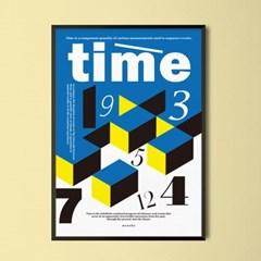 타임 타이포그래피 M 유니크 인테리어 디자인 포스터