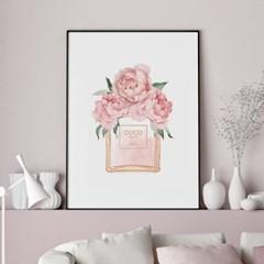 향수 모란 꽃 액자 보테니컬 그림 인테리어 포스터
