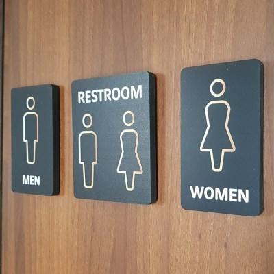 화장실 표지판 표시 표찰 남여화장실