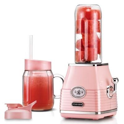 키친플라워 스퀘어 미니 믹서기 핑크 KEM-RS522WS