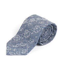 PAISLEY PATCH COTTON TIE (blue)