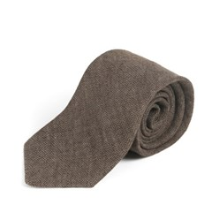 CRS CHECK LINEN TIE (brown)