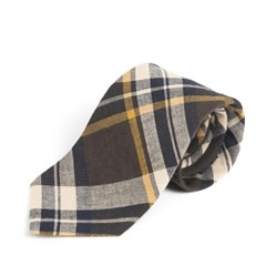 CH LINEN-COTTON TIE (brown)