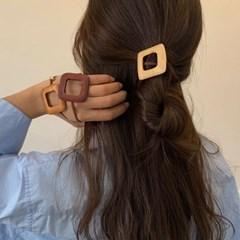 [3 color] 사각우드 네츄럴 포인트 머리끈 고무줄끈