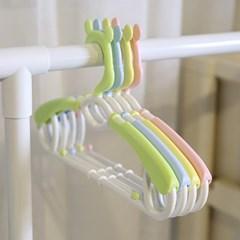 곰돌이 길이조절 확장형 옷걸이 4Px2세트(8입) 아기옷걸이