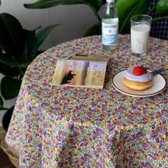온더빈티지플라워 퍼플꽃 식탁보 테이블보 2size 테이블러너